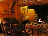 open fire accommodation moudeyres independent walking holiday Auvergne